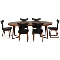 Rare Mid-Century Danish Teak Dining Set by Arne Vodder