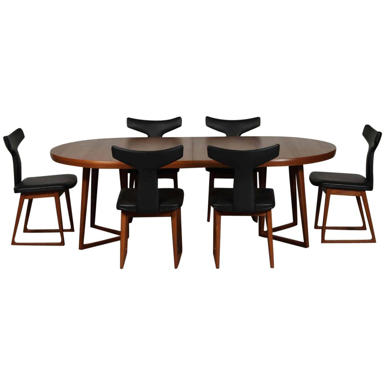 rare mid century danish teak dining set by arne vodder at