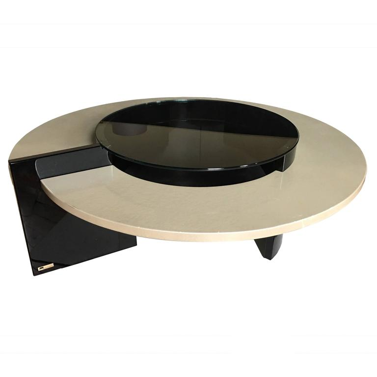 Modern Round Cocktail Table By Rougier For Sale At 1stdibs