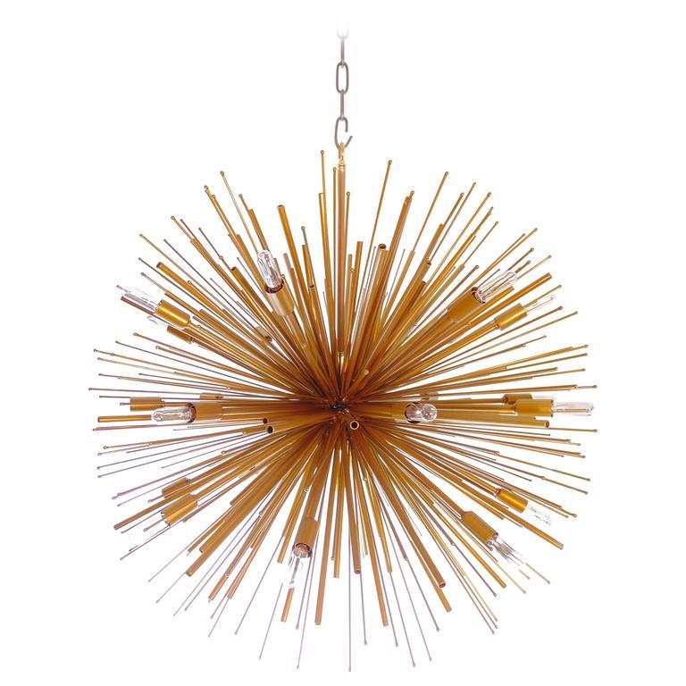 """Full Array"" Custom Supernova Chandelier by Lou Blass, with 24 lights"