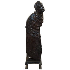 Italian 17th Century Santos Sculpture in Wood