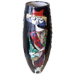 Large 1960s San Marino Italian Art Pottery Raymor Vase