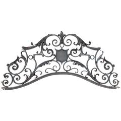 Ornate Late Victorian Iron Fence Header
