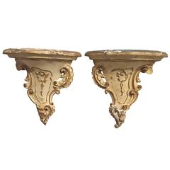 Venetian Style Carved Wood Brackets