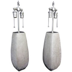 Unusual Beaded Glass Vases with Lamp Application