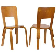 Alvar Aalto, Pair of Side Chairs, Model 66, 1933