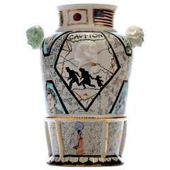 Century Vase III 'American Refuge' by Roberto Lugo