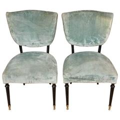 Pair of 1950s Side Chairs by Paolo Buffa