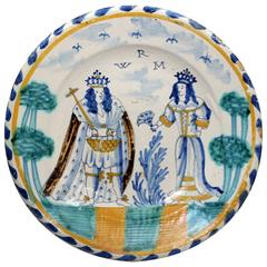 English Delftware Blue Dash Charger
