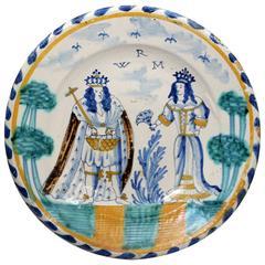 English Delftware Blue Dash Charger