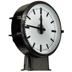 French Factory Ato Station Railway Clock Industrial