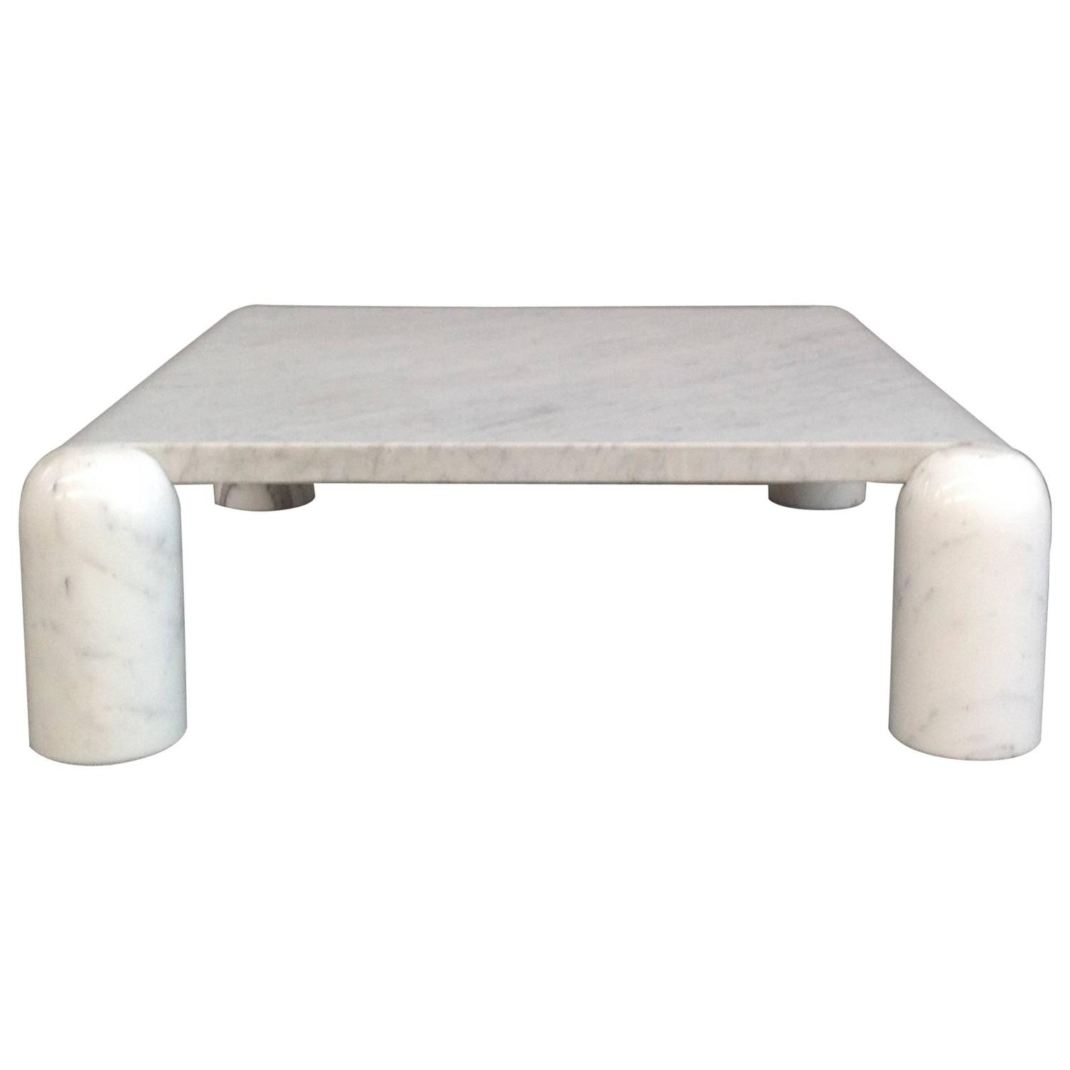 Carrara Marble Coffee Table Attributed To Mario Bellini For Sale At
