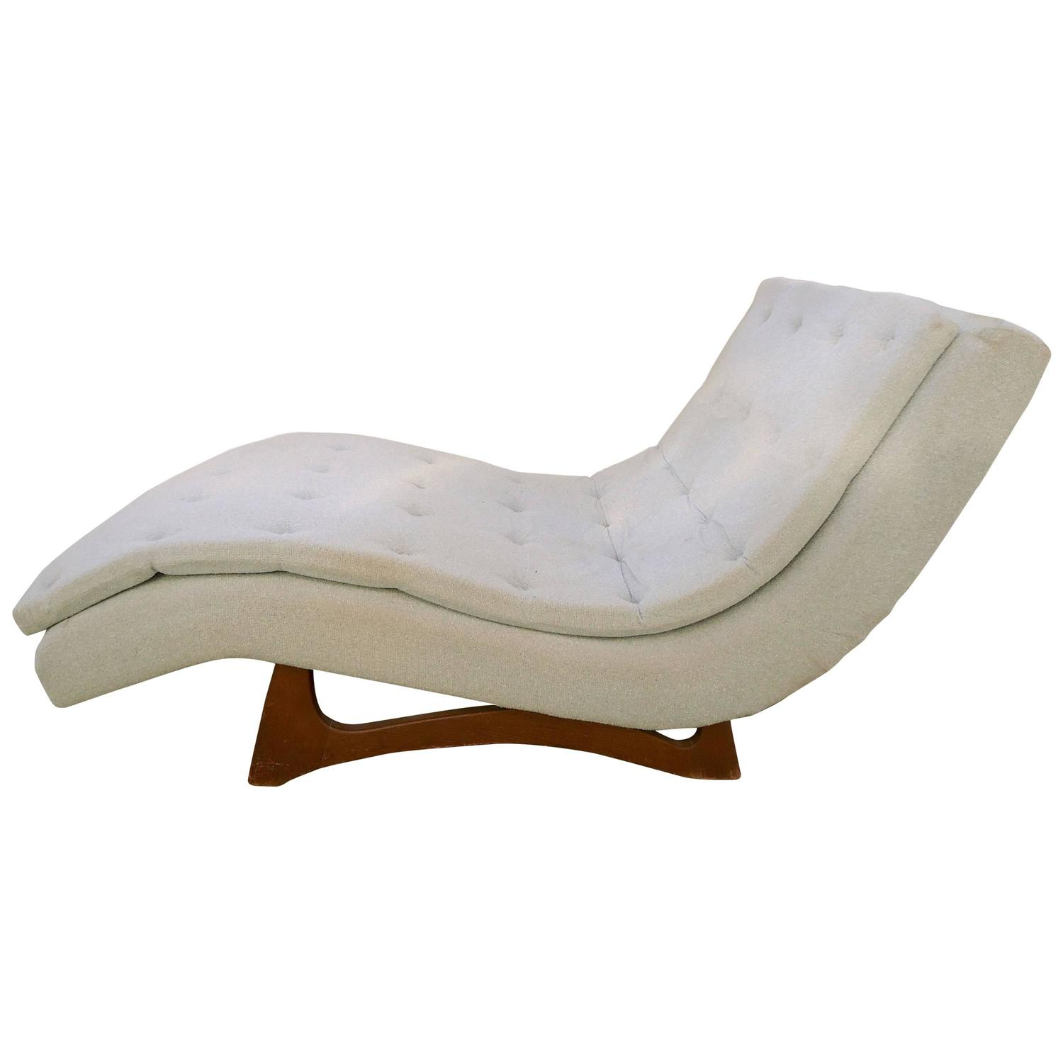 Large Chaise Lounge By Adrian Pearsall At 1stdibs