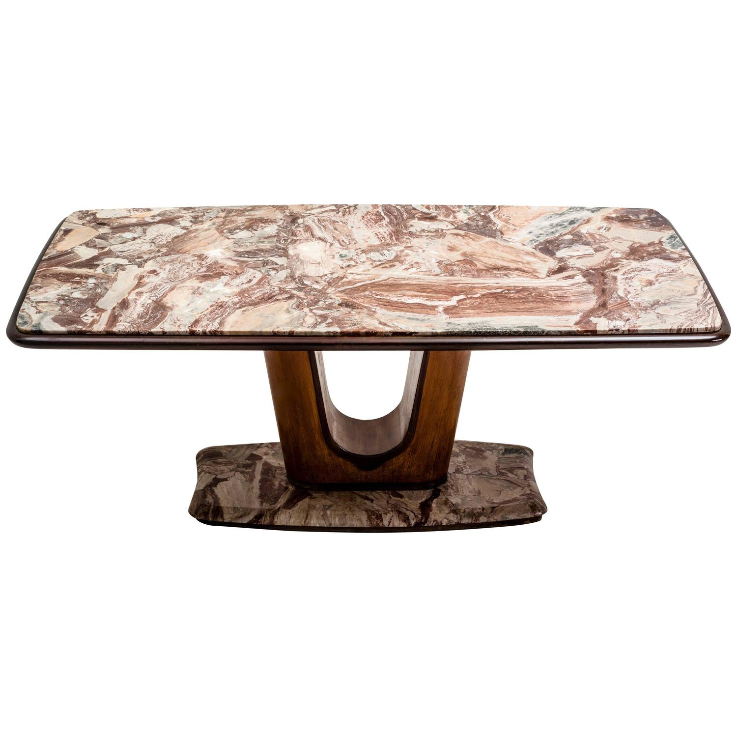Dining Table In Wood And Marble By Vittorio Dassi Italy 1950s For . Full resolution  picture, nominally Width 1500 Height 1500 pixels, picture with #301A10.