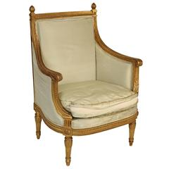 Louis XVI Style Giltwood Bergere