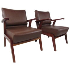 Pair of Unique Mid-Century Modern Italian Floating Armchairs