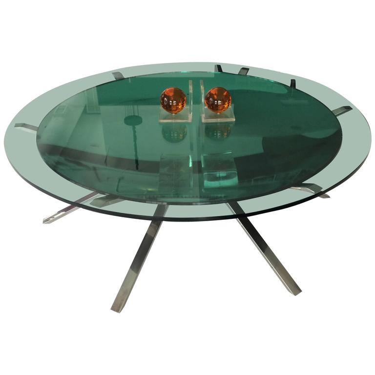 Italian Two Layer Glass Coffee Table For Sale At 1stdibs