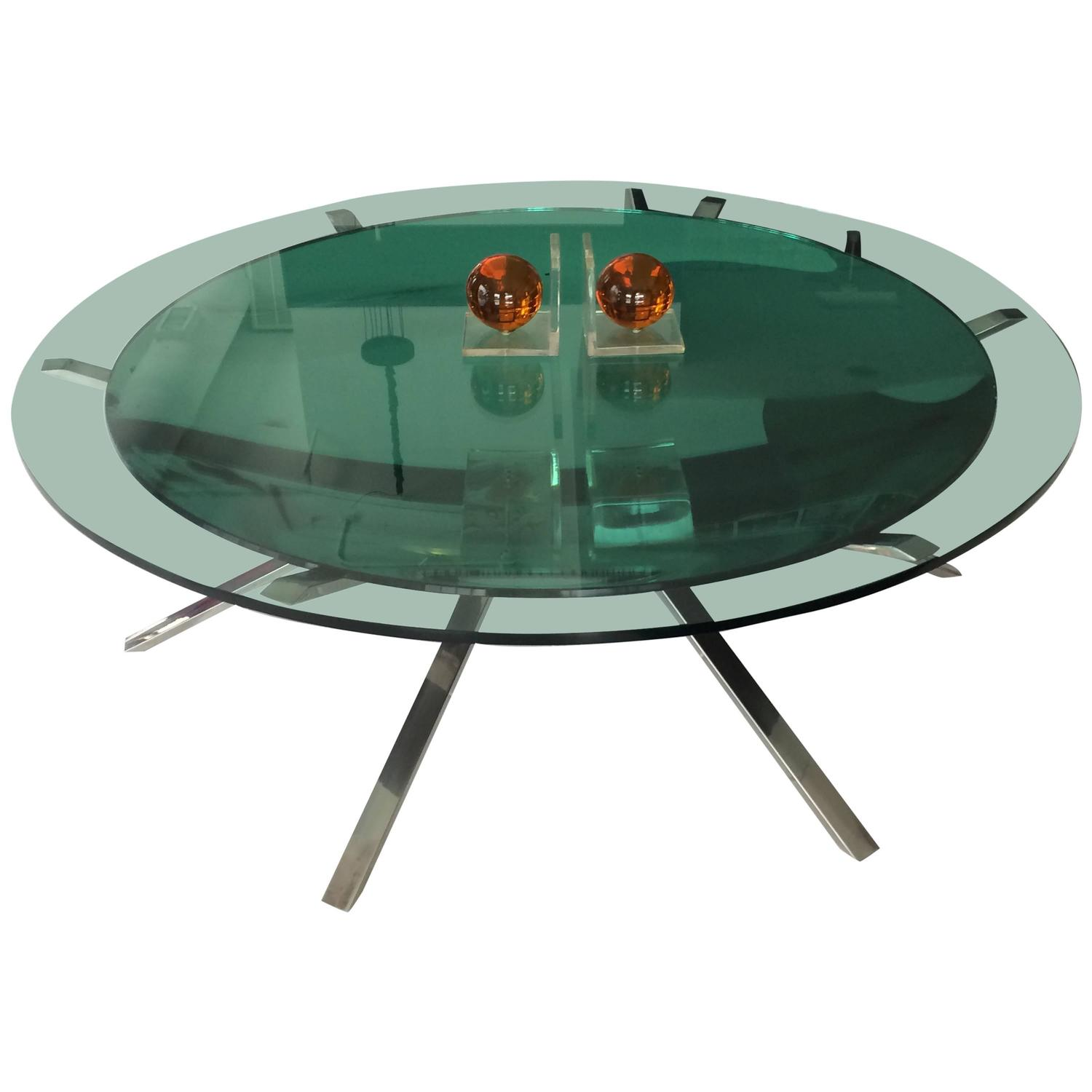 Italian Two Layer Glass Coffee Table At 1stdibs