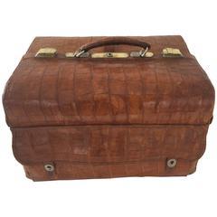 1940s Barber Alligator Suitcase