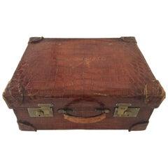 1940s Alligator Skin Suitcase