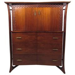 Mid-Century Modern Highboy Dresser after Piet Hein