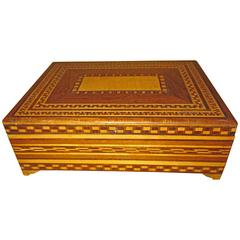 Santa Maria Del Rio Rebozo Case, Inlaid Wooden Box for Storing Rebozos
