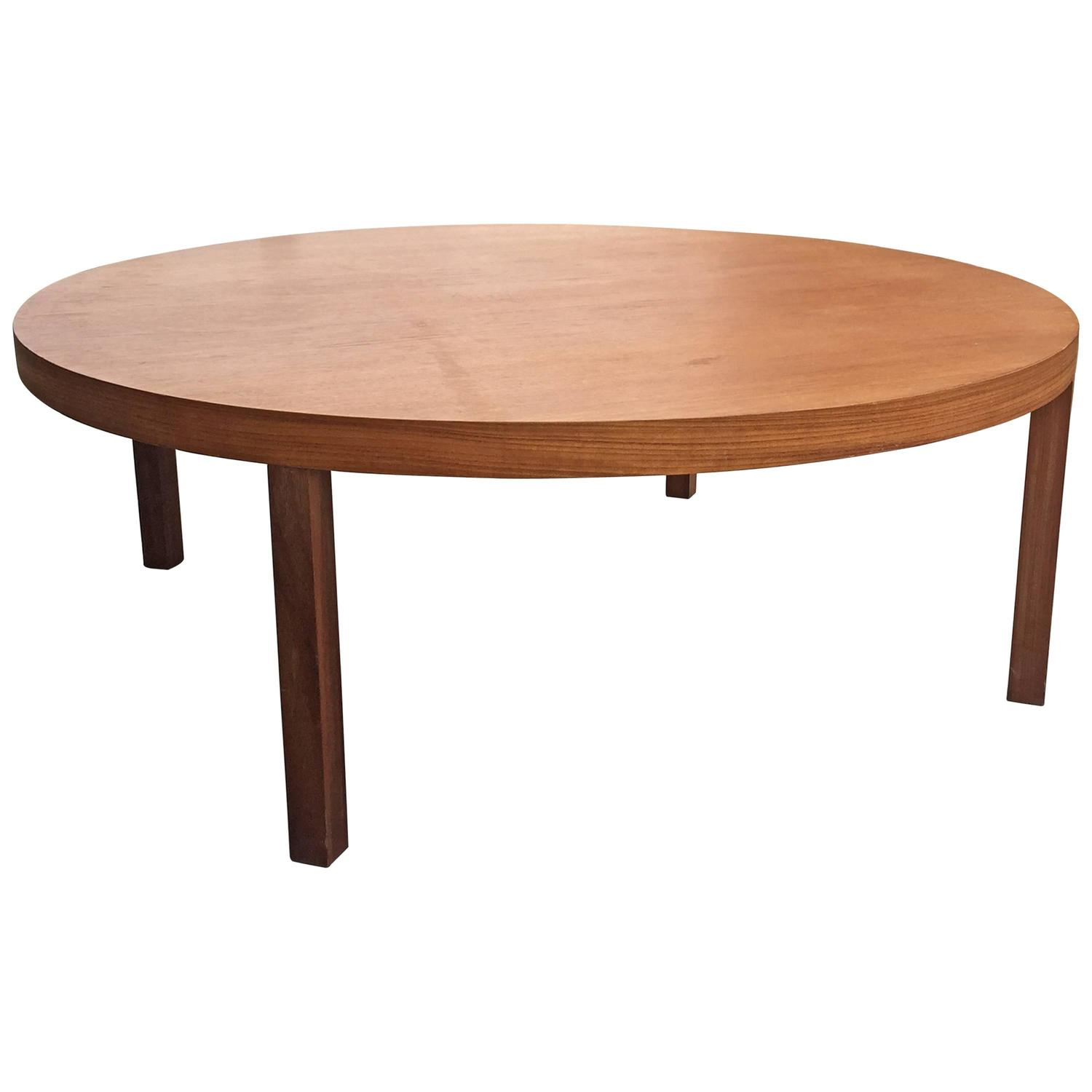 Simple Danish Teak Round Coffee Table At 1stdibs