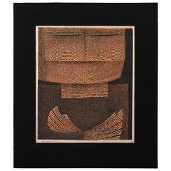 Mid-Century Woodblock Print by Tomio Kinoshita, Japan