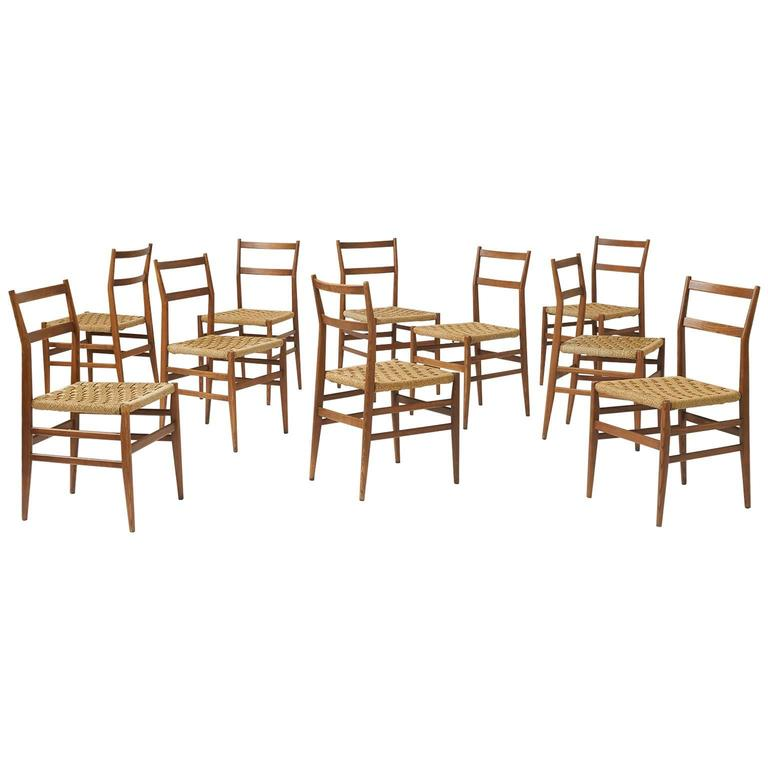 "Set of Eight ""Leggera"" Chairs by Gio Ponti for Cassina"