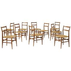 "Set of Ten ""Leggera"" Chairs by Gio Ponti for Cassina"