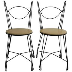 Two Tony Paul for Raymor Ice Cream Parlor Group Chairs