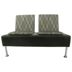 Modernist Two-Seat Sofa in Grey