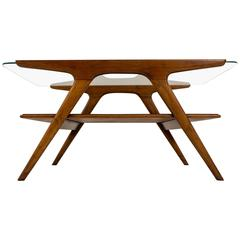 Funky Mid-Century Modern Coffee Table by Cesare Lacca for Cassina