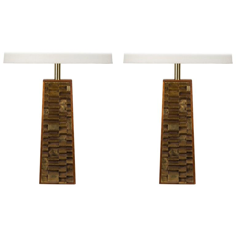Rare Pair of Harry Balmer Table Lamps For Sale