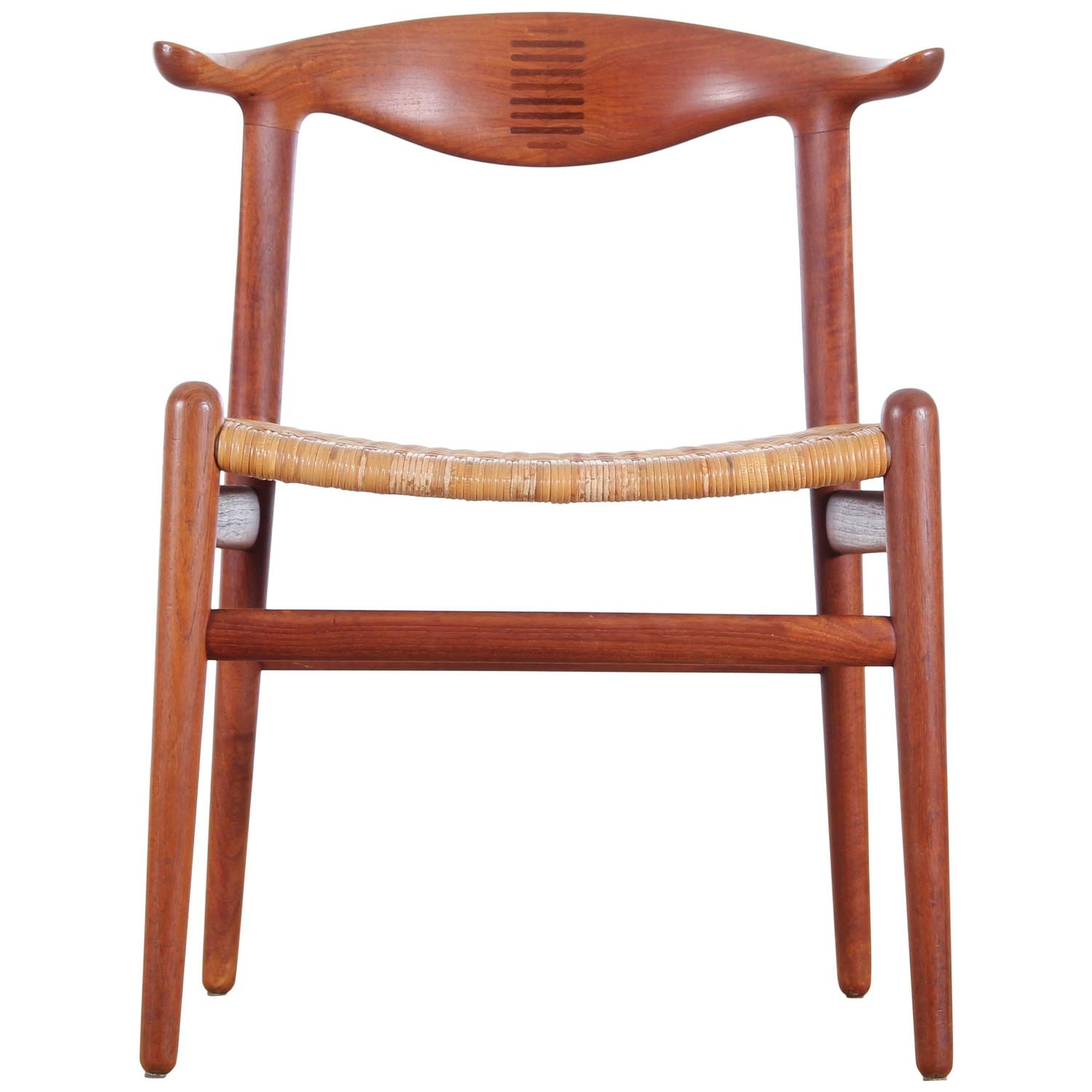 Cow Horn Chair in Teak by Hans Wegner for Johannes Hansen For Sale