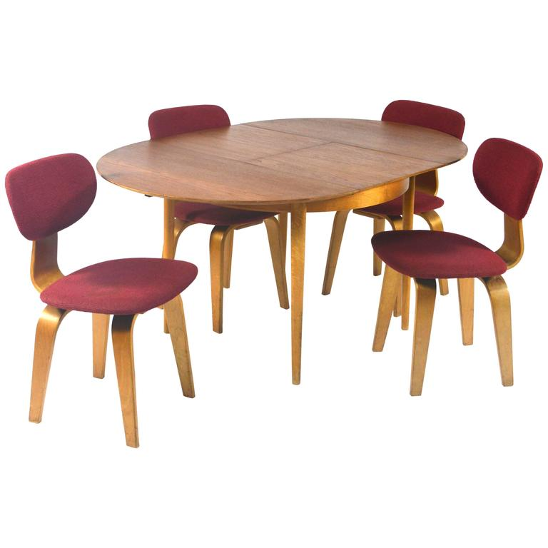 this cees braakman for pastoe birch plywood and teak dining set