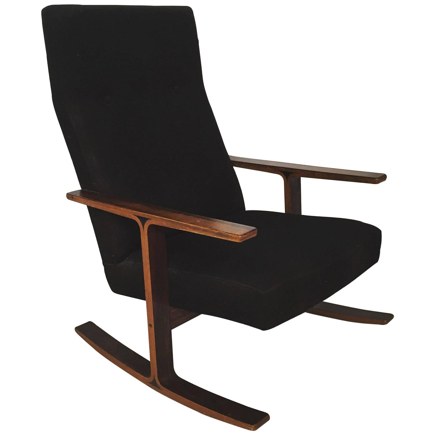Modern Rosewood Rocking Chair For Sale at 1stdibs