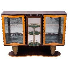 Italian Art Deco Extraordinary Bar Cabinet by Pier Luigi Colli, 1930