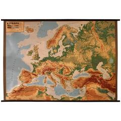 Large Decorative Relief Map of Europe, 1970s