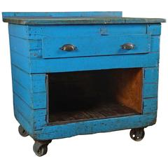 Blue Work Cart