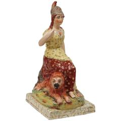 Staffordshire Pottery Figure of Britannia