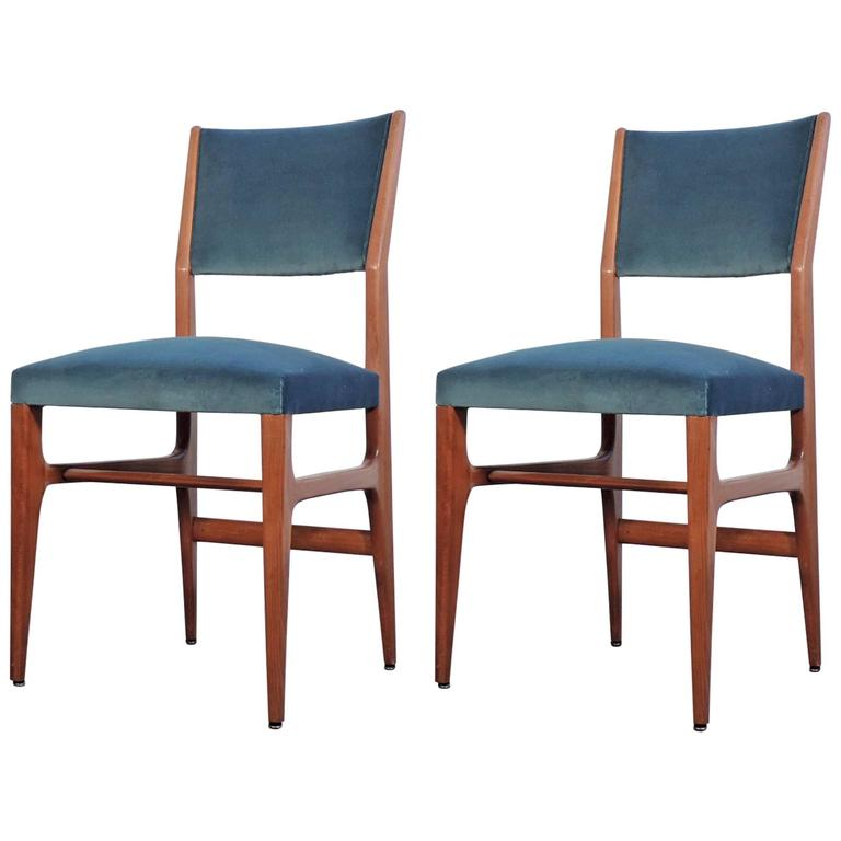 f2e3cf8b3d Gio Ponti Pair of Chairs for Cassina at 1stdibs
