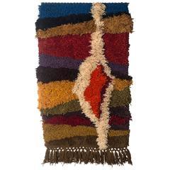 "Jane Knight 51"" Fiber Art Wall Hung Tapestry, 1960s"