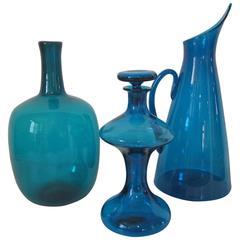 Blue Blenko Glass Collection