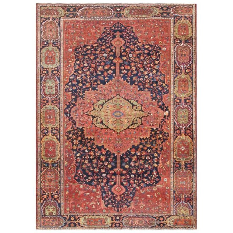Antique Persian Feraghan Sarouk Rug For