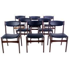 Set of Eight Danish Modern Teak Dining Chairs