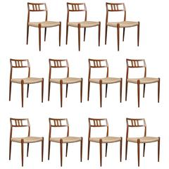 Set of 11 Niels Otto Moller Dining Chairs