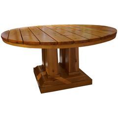 Huge Circular Table in Pine