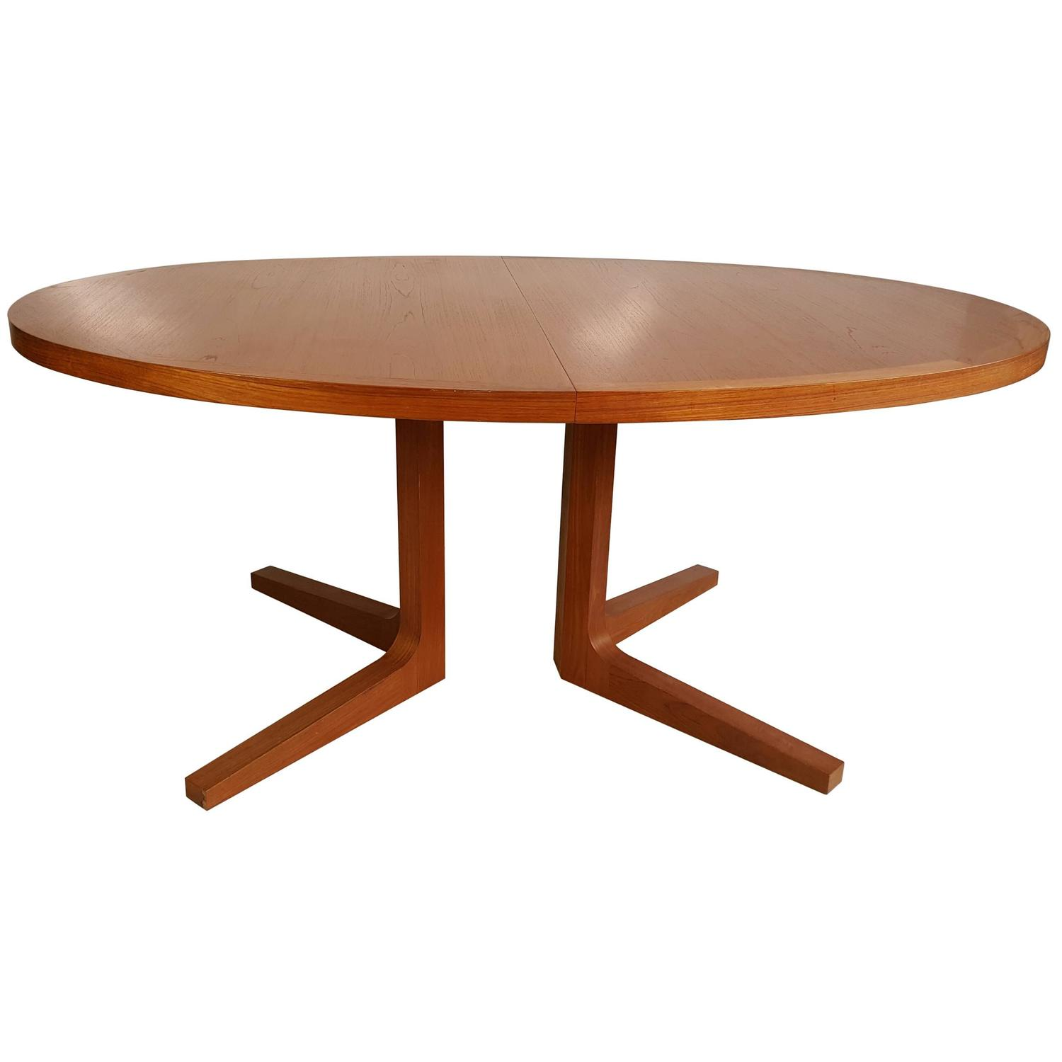 Danish Modern Expandable Teak Trestle Table G Plan Denmark at