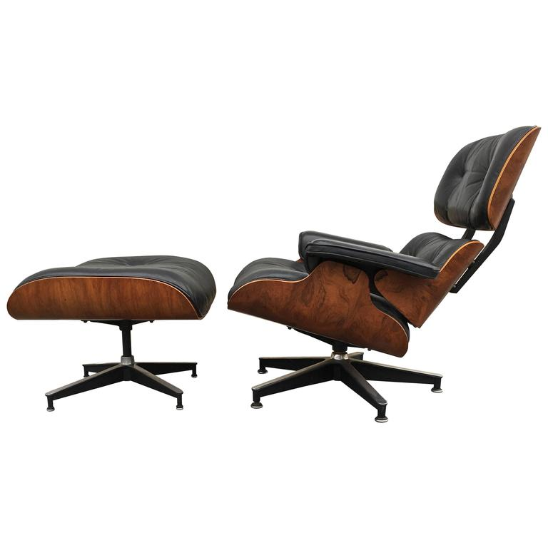 Rosewood Herman Miller Eames Lounge Chair and Ottoman